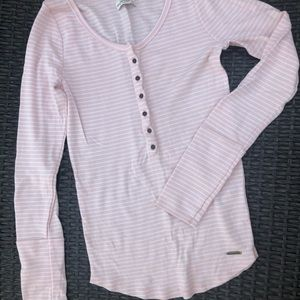 Abercrombie & Fitch Henley Ribbed Shirt